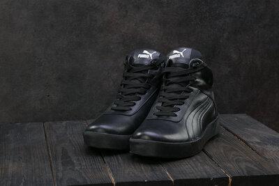 Мужские кожаные зимние ботинки Puma из натуральной кожи