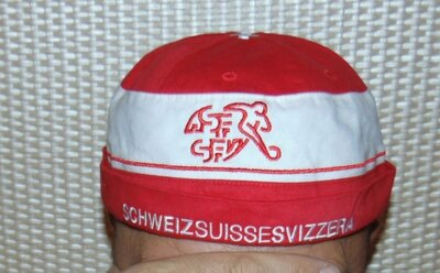 Катоновая стильная кепочка кепка футбольная тюбитейка зб Швейцарии .м-л-хл-2хл .