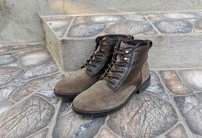 40 р. Оригинал кожаные демисезонные ботинки TOMMY HILFIGER Gore-Tex