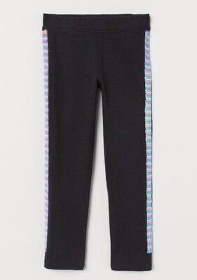 Модные плотные леггинсы с пайетками H&M. Размер 4-5лет
