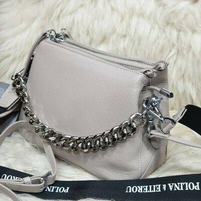 Женская кожаная сумка polina & eiterou кожа