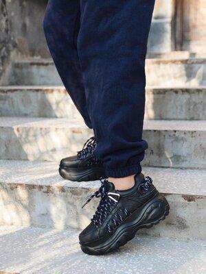Женские кроссовки на платформе Buffalo Black | 35-40.
