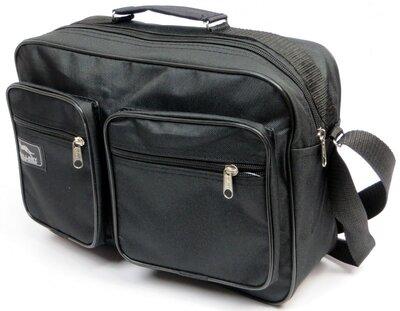 Продано: Вместительная мужская сумка черного цвета 2621