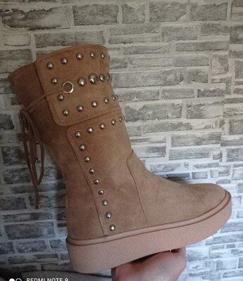Деми стильные ботиночки- сапожки
