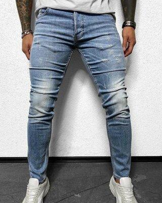 Мужские стильные модные джинсы скини джогеры штаны
