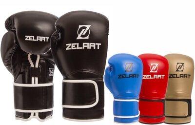 Перчатки боксерские на липучке Zelart 1391 10-14 унций, PU 4 цвета