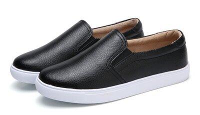 Кожаные слипоны Four Seasons - очень удобные и легкие. Кожаные туфли, мокасины. Шкіряні сліпони.