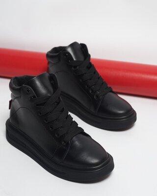 Новинка Натуральные кожаные женские демисезонные хайтопы ботинки