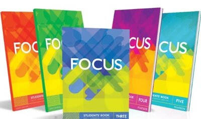 Focus 1,2,3,4. Students book, Workbook