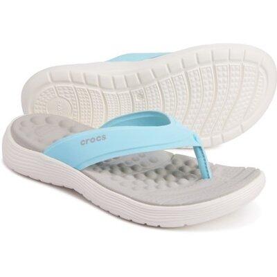 оригинальные шлепанцы крокс шлепки Crocs Reviva Flip Flops женские вьетнамки крокс вьетнамки Crocs