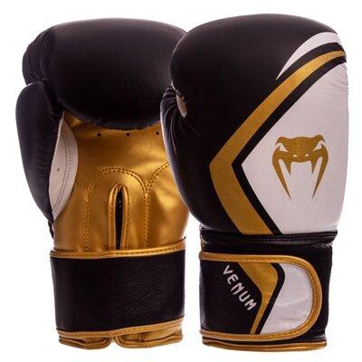 Перчатки боксерские кожаные на липучке Venum VN-009 10-14 унций