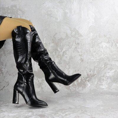 Женские ботфорты-сапоги черные Obie выбор обуви