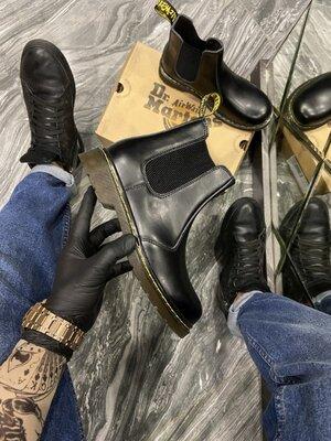 Мужские ботинки Dr Martens доктор Мартинс, Топ качество, черные, р. 36-45, 002-2086