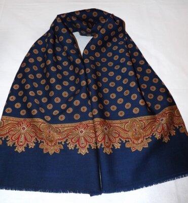 Мужской шарф-кашне, натуральная шерсть, 29х121