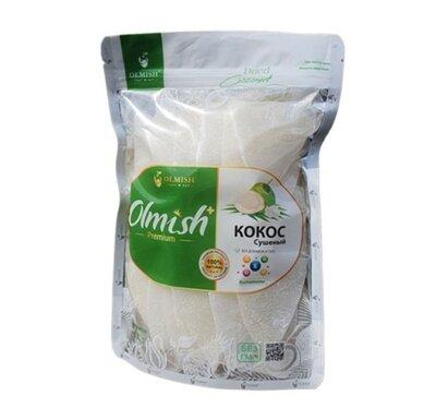 Кокос сушеный без добавок Натуральные сушеные кокосовые слайсы Olmish Asia Food, ломтики, кусочки, б