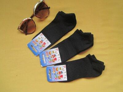 Черные короткие спортивные носки, р.22 , Классик