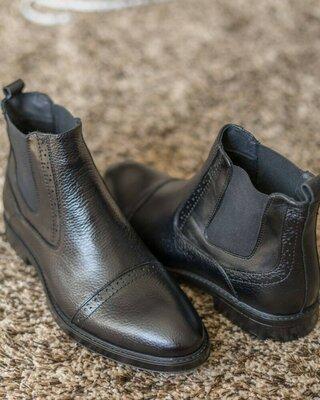 Престижная мужская обувь люкс демисезонные сапоги ботинки Челси осенние весенние