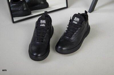 Мужские кожаные демисезонные кроссовки кроссы из натуральной кожи осенние весенние ботинки