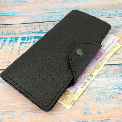 Мужской бумажник кожаныйKR 303 черный