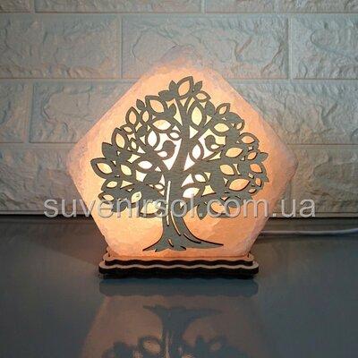 Соляной светильник Домик средний Дерево