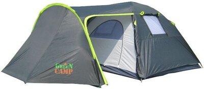 Палатка 4-х местная GreenCamp GC 1009 -2, два входа 440x245x155см