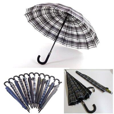 Зонт трость в клетку Max Comfort Антишторм мужской женский
