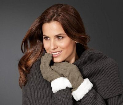 Теплые перчатки под замш tchibo р.7
