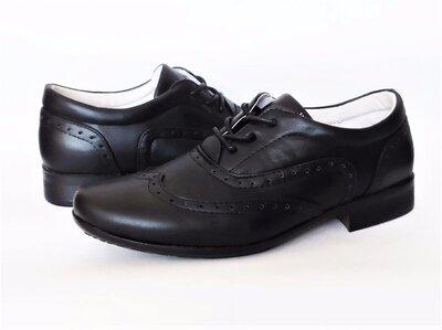 Школьные туфли броги B&G. Супинатор. 32, 33, 34, 35, 36, 37 размеры