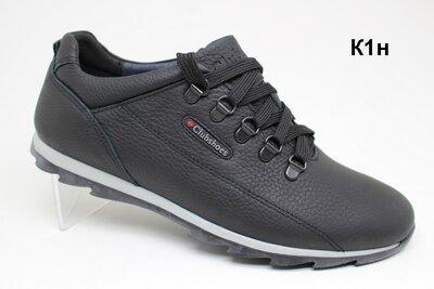 Мужские кожанные туфли-кроссовки К1-Н