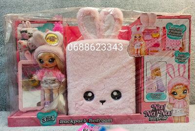 Продано: Na na na surprise 3-в-1 спальня и рюкзачок На на на розовый зайчик 569732