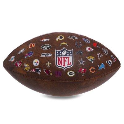Мяч для американского футбола Wilson NFL Team WTF1758 PU коричневый цвет