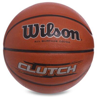 Мяч баскетбольный резиновый 7 Wilson Clutch 1434XB размер 7 резина, бутил