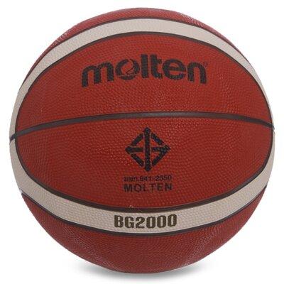 Мяч баскетбольный резиновый Molten 7 B5G2000 размер 7 резина, бутил