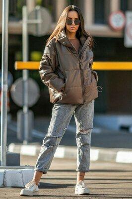 Стильная куртка с экокожи Соната