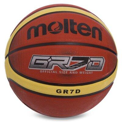 Мяч баскетбольный резиновый Molten 7 BGRX7D-T1 размер 7 резина, бутил