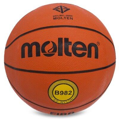Мяч баскетбольный резиновый Molten 7 B982 размер 7 резина, бутил
