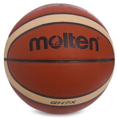 Мяч баскетбольный резиновый Molten 7 BGH7X размер 7 PU, бутил