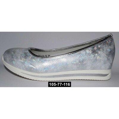 Туфли школьные для девочки, сникерсы, 32-37 размер, супинатор, кожаная стелька, 105-77-116