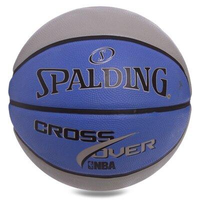 Мяч баскетбольный резиновый Spalding Cross Over 83337Z размер 7 резина, бутил