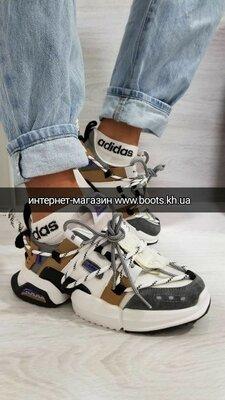 Кроссовки хит массивные кроссовки на шнуровке с вставками