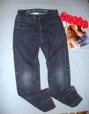 мужские джинсы размер 44-46 W 30 w30 30R удобные модные темно-синие молодежные джинсы мужские W 30
