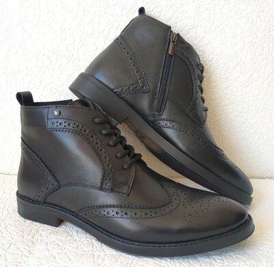 TODS мужские зимние броги ботинки оксфорд на шнуровке натуральная кожа змейка