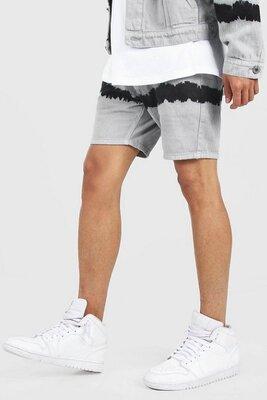 Продано: Boohoo.man.товар куплен в англии. джинсовые шорты с принтом тай дай.