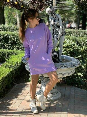 Теплое платье- туничка много цветов