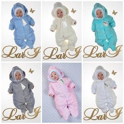 Комбинезон-Человечек велюровый для новорожденных
