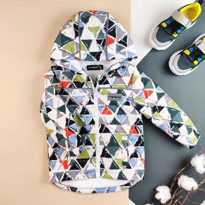 Яркая демисезонная детская куртка на микрофлисе для мальчика для девочки