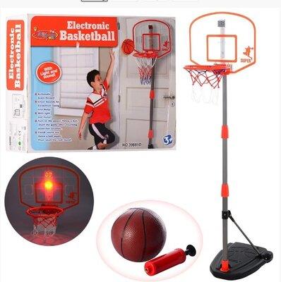 Детское Баскетбольное Кольцо На Стойке Со Светом BAMBI 3548
