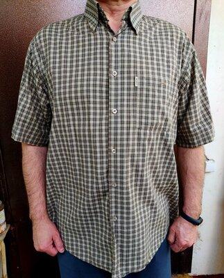 Рубашка-Шведка мужская 54-56 бежевая в клетку
