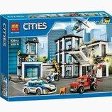 Конструктор Bela 10660 Полицейский участок 936 деталей. Аналог Lego City 60141