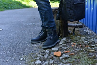 Ботинки натуральная кожа сарагоса черные